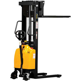 Vestil Combination Battery Powered & Hand Pump Lift Stackers