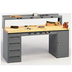 Tennsco Heavy Duty Pedestal Work Benches
