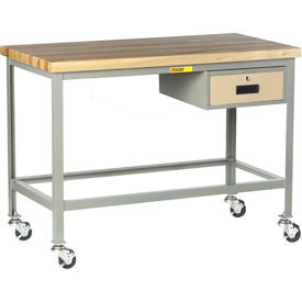Little Giant Mobile Butcher Block Top Tables