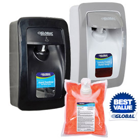 Global Industrial™ Hand Soap & Sanitizer Dispensers & Refills
