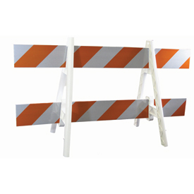 Traffic Barricade A-Frame 8 Ft. With 2 Rail