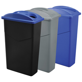 Global Industrial™ Slim Trash Containers
