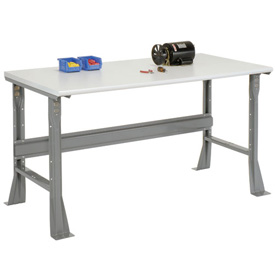 "48""W X 30""D X 34""H ESD Safety Edge Workbench - Gray"