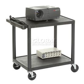 Plastic Audio Visual & Instrument Cart 32 X 24 X 27 Two Shelves