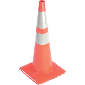 "36"" Traffic Cone, Reflective, Orange, 10 lbs, 3650-8MM"