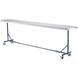 "Omni Metalcraft Portable Castered Conveyor Support 12""W PTST9.75-23-39-10"