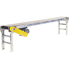 "Omni Metalcraft Powered 12""W x 40'L Belt Conveyor without Side Rails BHSE12-0-42-F60-0-0.5-4"