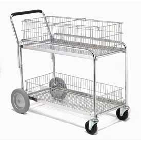 Deluxe Mail and Office File Cart 250 Lb. Capacity