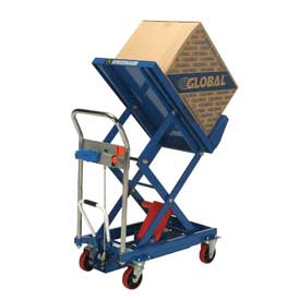 Best Value Mobile Lift & Tilt Scissor Lift Table 600 Lb. Capacity - 36 x 24 Platform