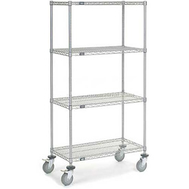 Nexelate Wire Shelf Truck 36 x 18 x 69 1200 Lb. Capacity