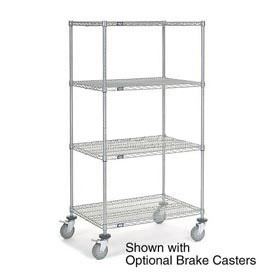 Nexelate Wire Shelf Truck 48x24x80 1200 Pound Capacity