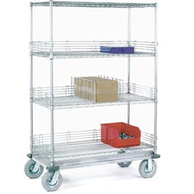 Nexel® Chrome Wire Shelf Truck 48x18x83 1200 Pound Capacity