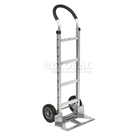 Global Aluminum Hand Truck - Curved Handle - Mold-On Rubber Wheels