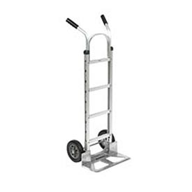 Global Aluminum Hand Truck - Double Handle - Mold-On Rubber Wheels