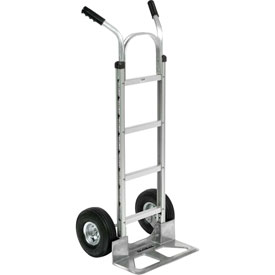 Global Industrial™ Aluminum Hand Truck - Double Handle - Pneumatic Wheels