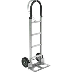Global Aluminum Hand Truck - Loop Handle - Mold-On Rubber Wheels