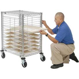 Nexel® End Load Wire Tray Cart with 19 Tray Capacity