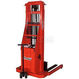 PrestoLifts™ Battery Power Lift Straddle Stacker PSA286 Adj. Legs 2000 Lb.