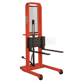 PrestoLifts™ Hydraulic Stacker Lift Truck M452 1000 Lb. with Adj. Forks