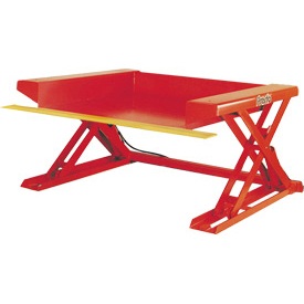PrestoLifts™ Floor Level Powered Lift Table XZ50-40F Foot Control 4000 Lb.