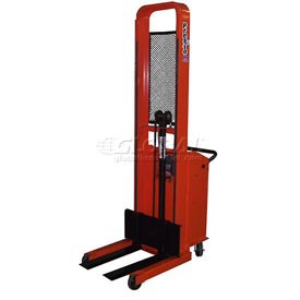 "PrestoLifts™ Pacemaker Battery Powered Lift Stacker B678 1000 Lb. Adjustable 25"" Forks"