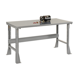 "72""W X 36""D X 34""H Steel Square Edge Workbench - Gray"