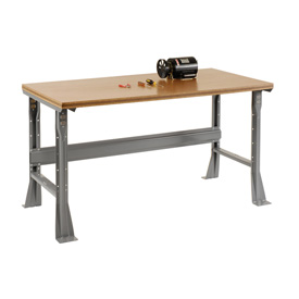 "72""W X 36""D X 34""H Shop Top Square Edge Workbench - Gray"