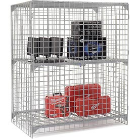 Wire Mesh Security Cage - Ventilated Locker -  60 x 24 x 72