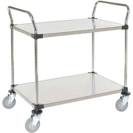 Nexel® Stainless Steel Utility Cart 2 Shelves 36x24