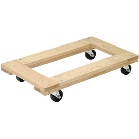 Akro-Mils® RD3624F3P Premium Hardwood Dolly Open Deck 900 Lb. Capacity