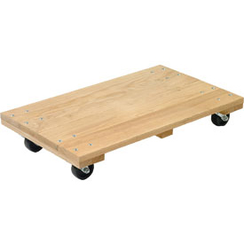 Akro-Mils® RD2416S3P Premium Hardwood Dolly Solid Deck 900 Lb. Capacity