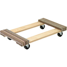 Akro-Mils® RD3018CE4P Premium Hardwood Dolly Carpeted Ends 1200 Lb. Cap.