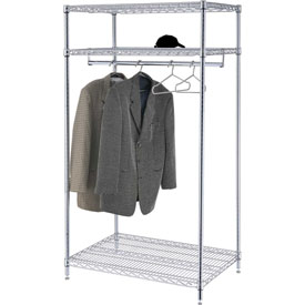 Garment Floor Rack With 12 Hangers, 3-Shelf