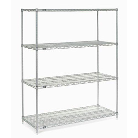 "86""H Nexel Chrome Wire Shelving - 60""W X 36""D"