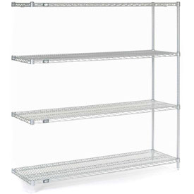"63""H Nexel Chrome Wire Shelving Add-On - 48""W X 14""D"