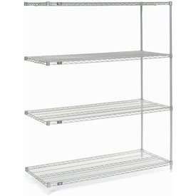 "74""H Nexel Chrome Wire Shelving Add-On - 36""W X 14""D"