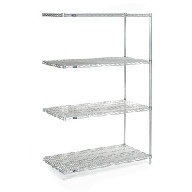 "74""H Nexel Chrome Wire Shelving Add-On - 60""W X 30""D"
