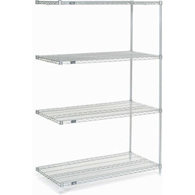 "86""H Nexel Chrome Wire Shelving Add-On - 60""W X 30""D"