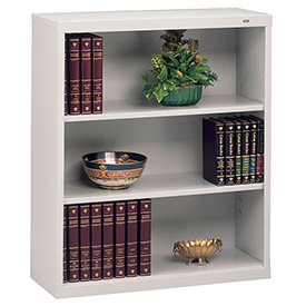 "Welded Steel Bookcase 40""H - Light Gray"