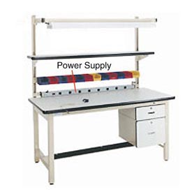 "72"" L Power Supply with Mounting Rail - Blue"