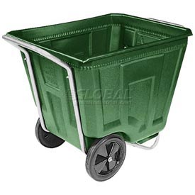 Akro-Mils® 76460 Low Profile Green 60 Gallon Tilt Cart Without Lid