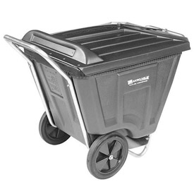 Akro-Mils® 76461 Low Profile Gray 60 Gallon Tilt Cart With Lid