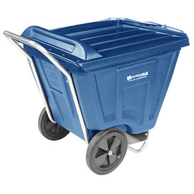 Akro-Mils® 76591 Low Profile Blue 90 Gallon Tilt Cart With Lid
