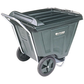 Akro-Mils® 76591 Low Profile Green 90 Gallon Tilt Cart With Lid