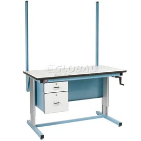"48"" H Workbench Uprights - Blue"