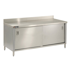"Aero Manufacturing 2TSBOD-3072 72""W x 30""D Cabinet Workbench With Sliding Doors"