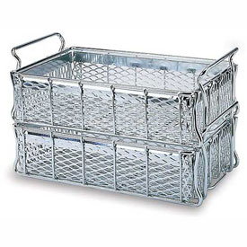 "MID-WEST WIRE Basket - 16x10x4-1/2 - Zinc-Plated - -1/2"" Mesh Sides and Bottom"