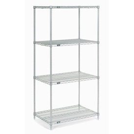"54""H Nexel Chrome Wire Shelving - 42""W X 14""D"