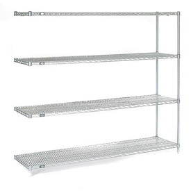 "54""H Nexel Chrome Wire Shelving Add-On - 60""W X 14""D"