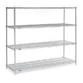 "54""H Nexel Chrome Wire Shelving - 72""W X 14""D"